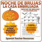 Spanish Halloween Logic Puzzle using Prepositions