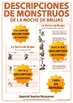 Spanish Halloween Monster Descriptions