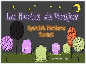 Spanish Halloween Numbers 1-10 Resource Packet