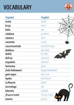 Spanish Halloween Posters FREEBIE