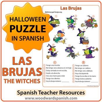 Spanish Halloween Puzzle - Las Brujas