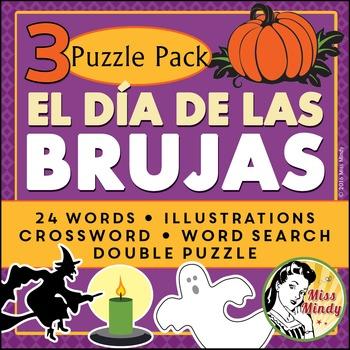 Spanish Halloween Puzzle Pack (Día de las Brujas, Noche, Dia de Brujas)