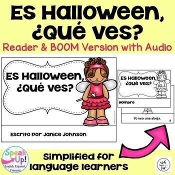 Spanish Halloween Reader & Cut/Paste ~ Es Halloween. ¿Qué ves? {en español}
