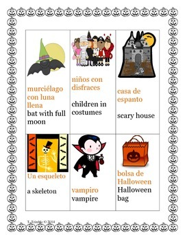 Spanish Halloween Reading Comprehension Story (Revised)