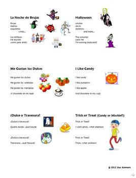 Spanish Halloween Rhymes