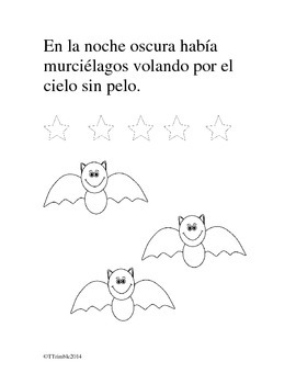 Spanish Halloween Rhyming Story