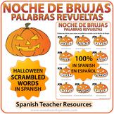 Spanish Halloween Scrambled Words