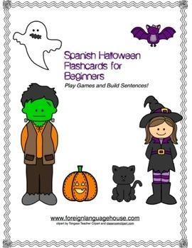 Spanish Halloween Sentence Building for Beginners