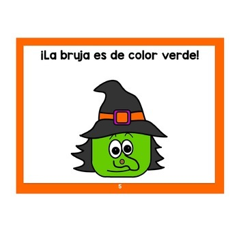 Spanish Halloween Set: Guessing Book, Flashcards & Coloring Pages