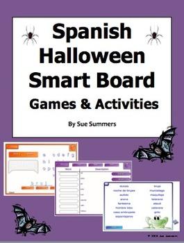 Spanish Halloween SmartBoard Games and Activities