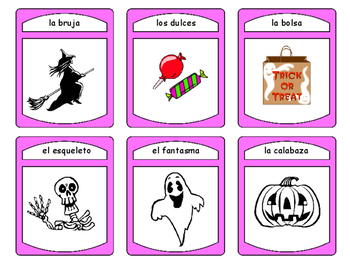 Spanish Halloween Spoons Card Game -Halloween Vocabulary in Spanish