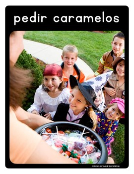 Spanish Halloween Vocabulary Posters & Flashcards with Real Photos