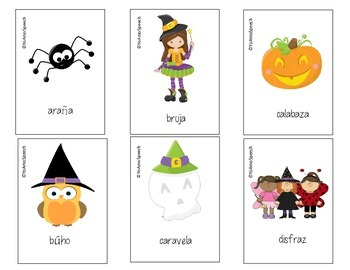 Spanish Halloween Vocabulary, WH Questions