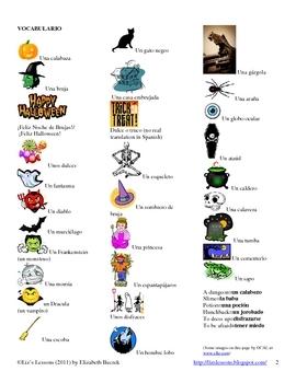Spanish Halloween Vocabulary and Activities!