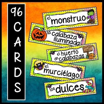 Spanish Halloween Word Wall (La Noche de Brujas)