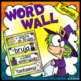 Halloween Spanish Word Wall (La Noche de Brujas)