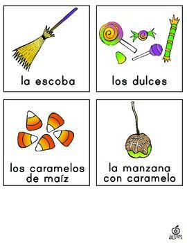 Spanish Halloween Word Wall and Literacy Center