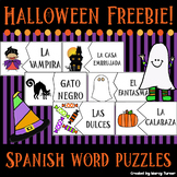 Spanish Halloween Words Puzzle FREEBIE!