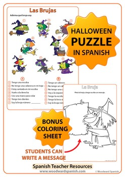 spanish halloween worksheets and activities bundle by woodward education. Black Bedroom Furniture Sets. Home Design Ideas