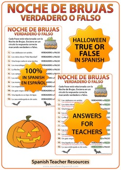 Spanish Halloween Worksheets and Activities BUNDLE