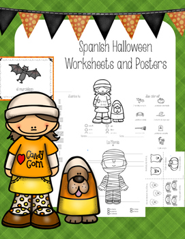Spanish Halloween Mini-book, I have...who has, Worksheets and Posters