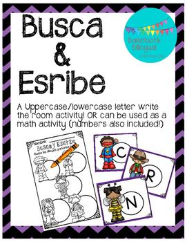 Spanish Halloween Write the Room (¡Busca y Escribe!)