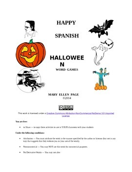 Spanish Halloween activities