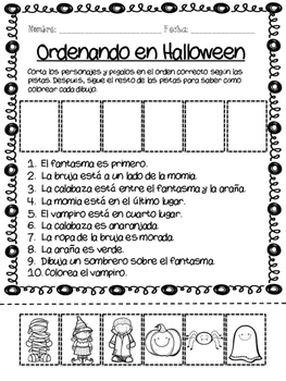 spanish halloween activity pack by lucia ortiz tpt. Black Bedroom Furniture Sets. Home Design Ideas