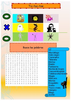 Spanish Halloween activity booklet for beginners