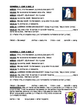 Spanish Halloween dialogue (Ser and estar)
