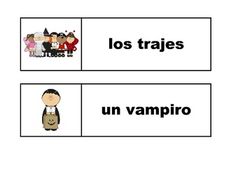 Spanish Halloween flashcards & vocabulary games - Víspera de Todos los Santos