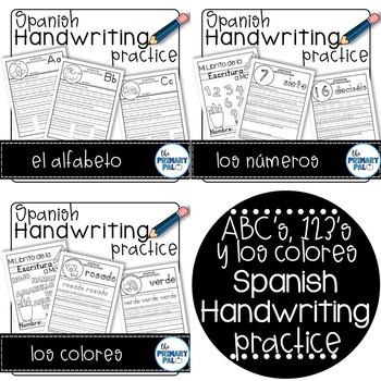 Spanish Handwriting Practice Bundle
