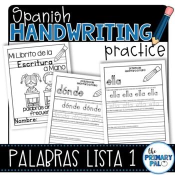 Spanish Handwriting Practice: Sight Words List 1