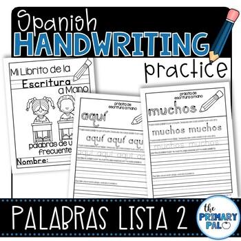 Spanish Handwriting Practice: Sight Words List 2