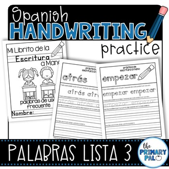 Spanish Handwriting Practice: Sight Words List 3
