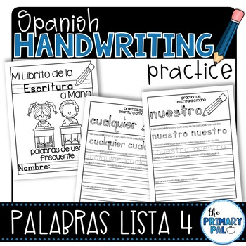 Spanish Handwriting Practice: Sight Words List 4