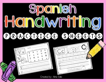 Spanish Handwriting Sheets