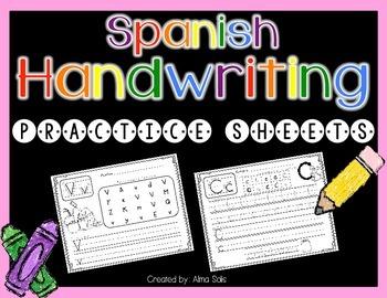 Spanish Handwriting Sheets