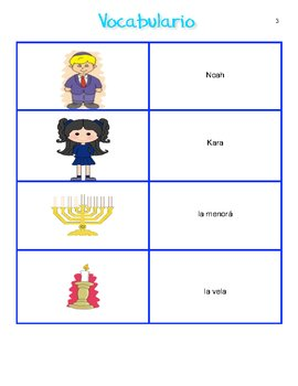 Spanish Hanukkah Materials for Grades 6 to 12