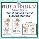 Spanish Happy Birthday Bulletin Board Llama Theme Carteler