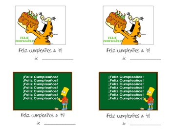 Spanish Happy Birthday Cards