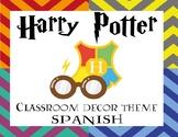 Spanish | Harry Potter Classroom Decor Theme