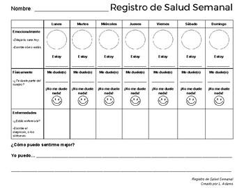 Spanish Health Log