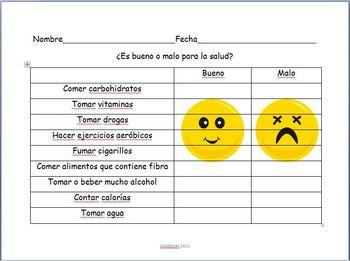Spanish - Health Phrases Practice