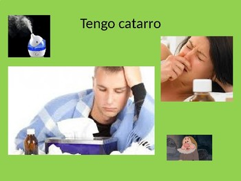 Spanish Health / Sickness Vocabulary PPT Estoy enfermo