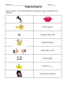 Spanish- Hear It/Say It Introductory Expressions