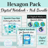 Digital Interactive Notebook Template for Spanish Class |