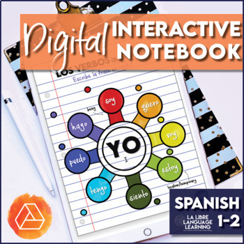 Spanish High Frequency Verbs Digital Interactive Notebook | Distance Learning