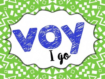 Spanish High-Frequency Verbs Printable Posters