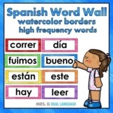 Spanish High Frequency Word Cards. Palabras de uso frecuen